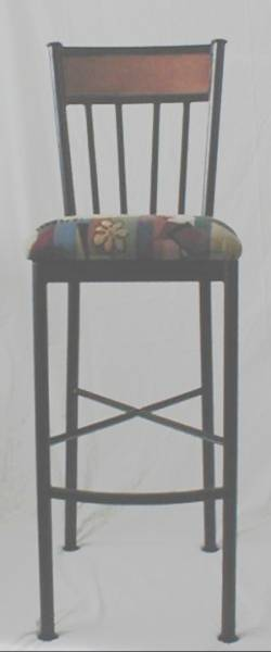 Model 508 Bar Stool with Wood Accent Back