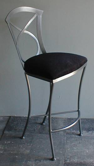606 Stationary Bar Stool Side View